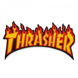 Trasher Flame Patch 4.5""