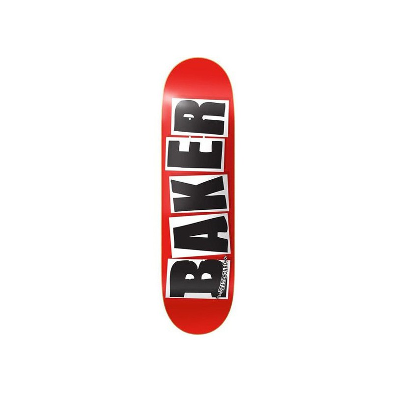 "Baker Brand Logo 7.88"" Red/Black Skateboard Deck"