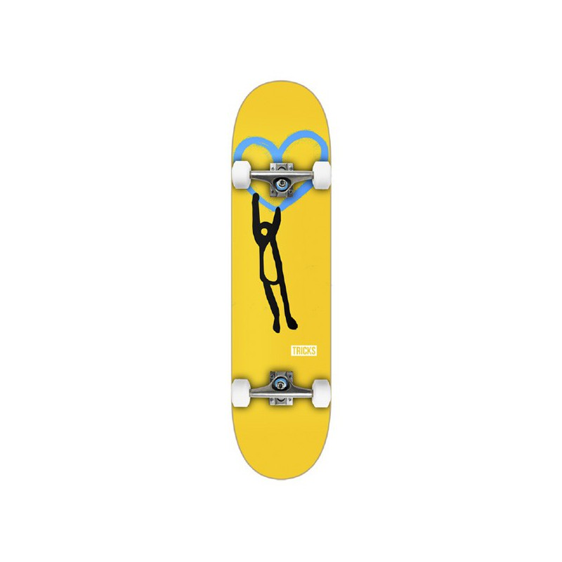 "Tricks Heart 7.375"" MC Complete Skateboard"