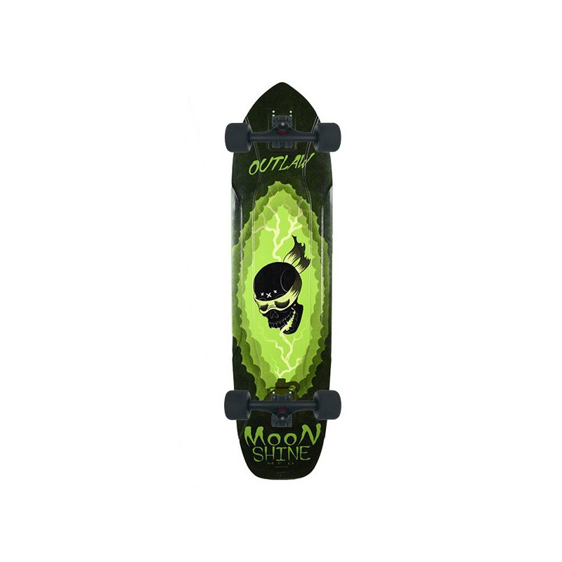 Moonshine Outlaw Black/Green Complete Longboard