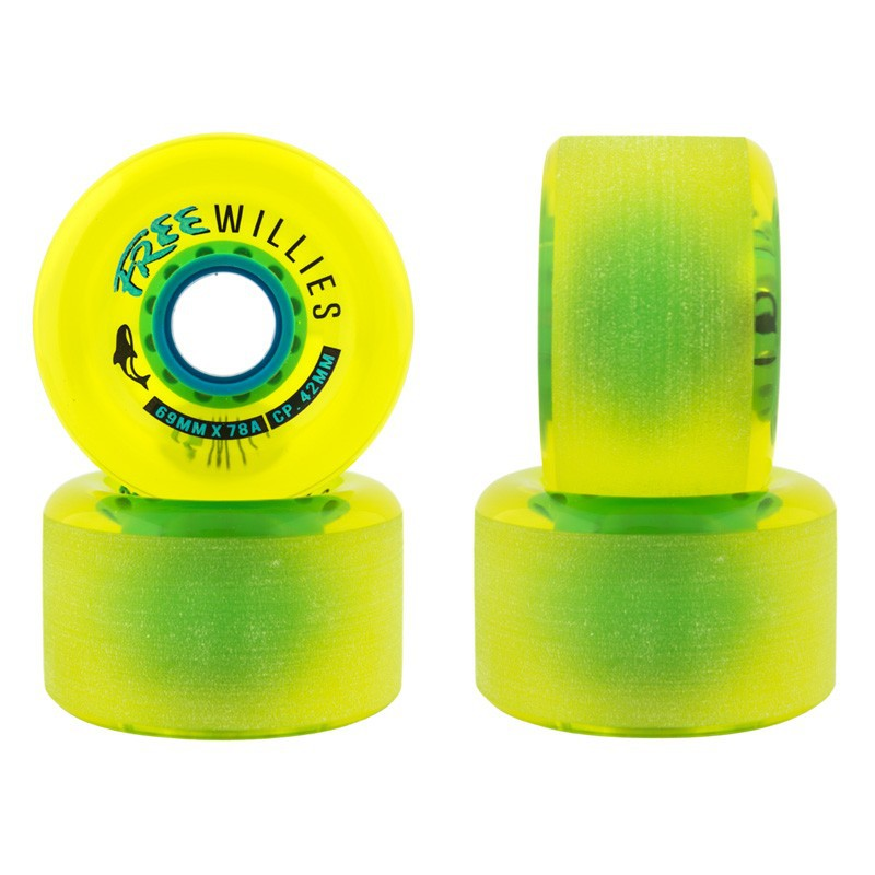 Free Wheel Willies V2 Longboard Wheels