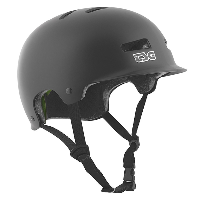 TSG Recon Solid Black Skateboard & Bike Helmet