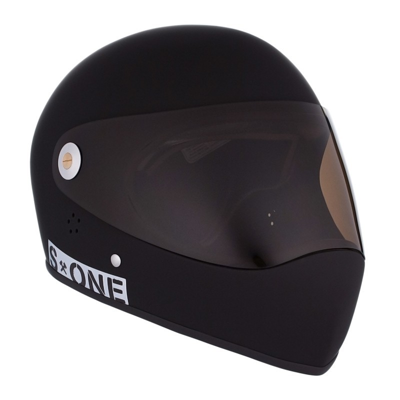 S-One Lifer Fullface Black Matte Longboard helmet