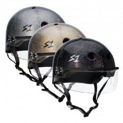 S-One Lifer Glitter With Visor Roller Derby Helmet