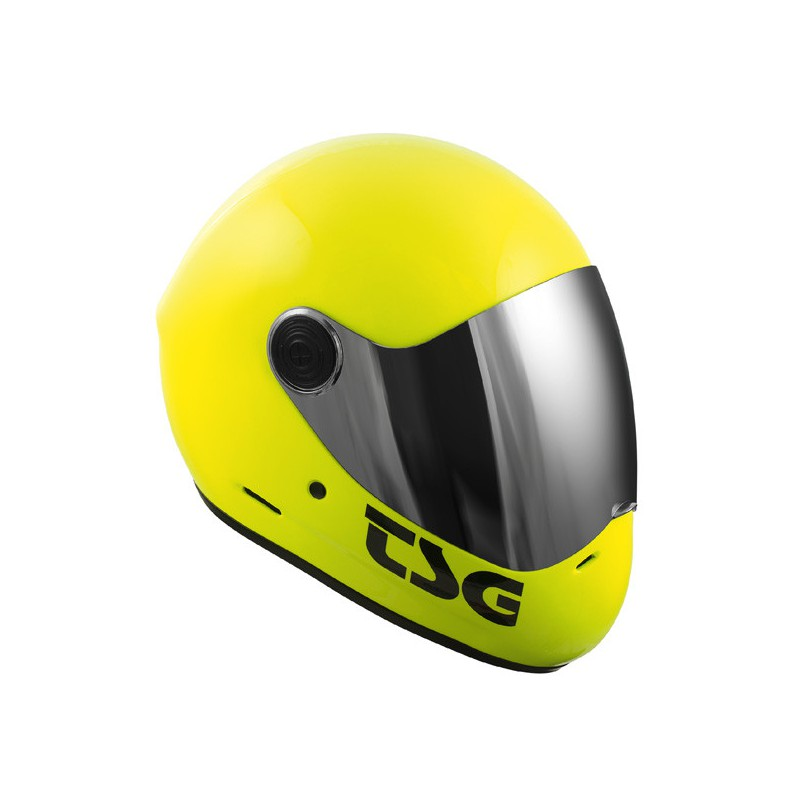 TSG Pass Acid Yellow Longboard helmet