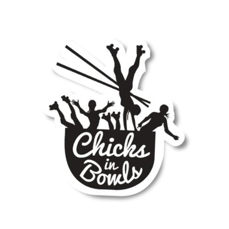 """Chicks In Bowls """"Classic"""" Sticker"""