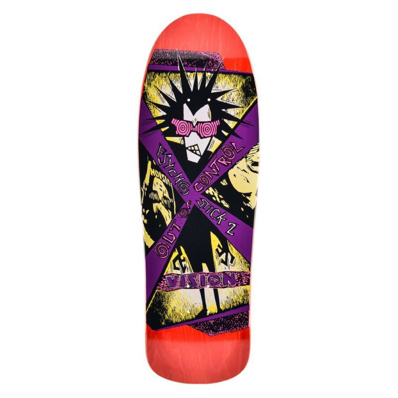 Vision Psycho Stick 2 Red Skateboard Deck