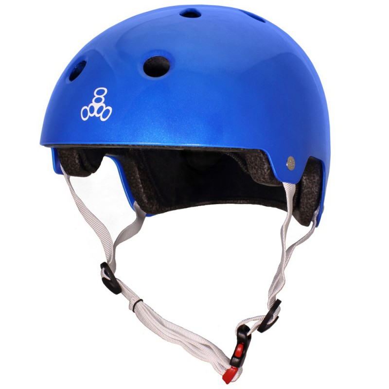 Triple Eight Dual Certified Metallic Blue Helmet