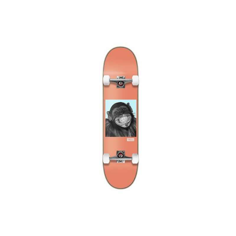 "Tricks Monkey 7.87"" MC Complete Skateboard"