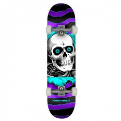 "Powell Peralta Ripper PP 8"" Purple/Teal Complete Skateboard"