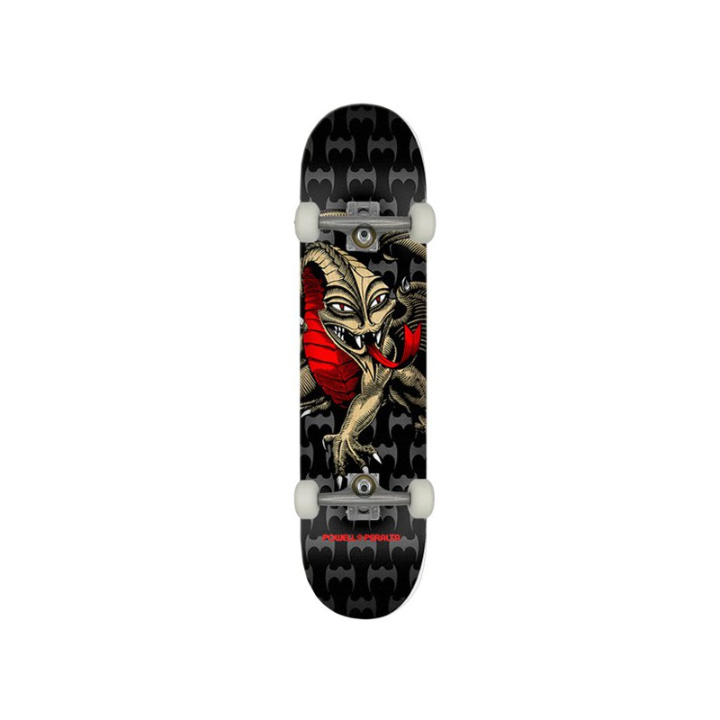 """Powell Peralta Cab Dragon PP 7.75"""" Black/Gold Skateboard Complet"""