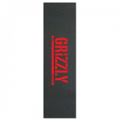 """Grizzly Stamp Red 9""""x33"""" Skateboard Griptape"""