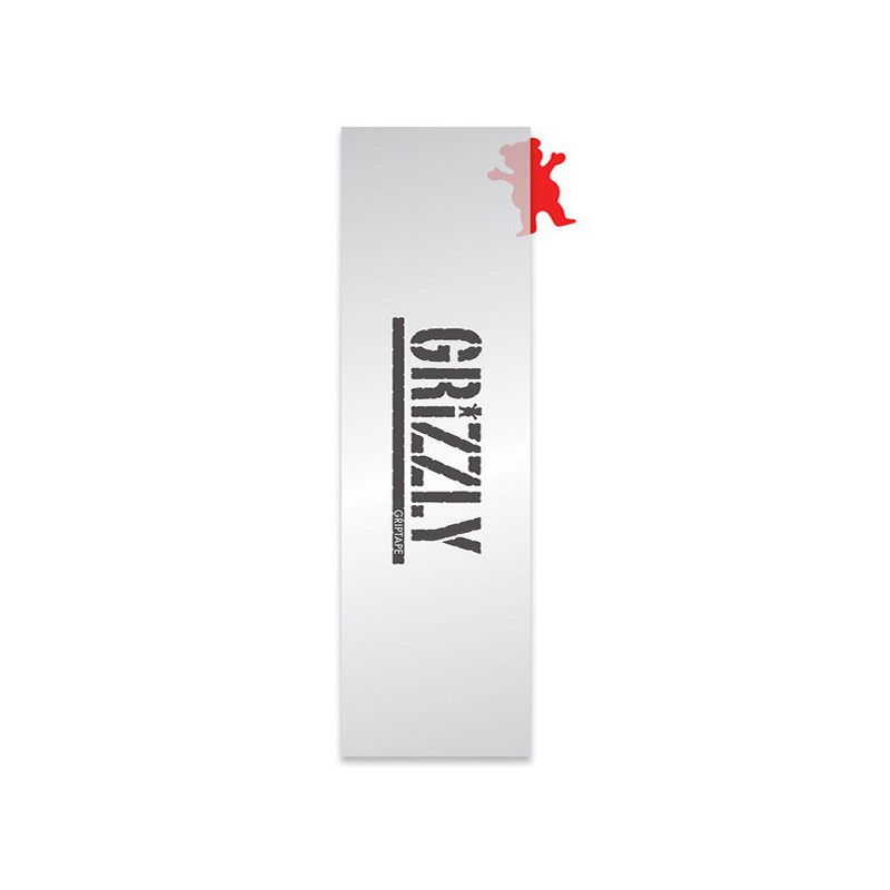 """Grizzly Stamp Clear 9""""x33"""" Skateboard Griptape"""