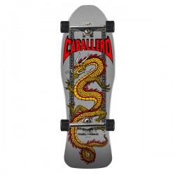 "Powell Peralta Caballero Chinese Dragon Silver 10"" Complete Skateboard"