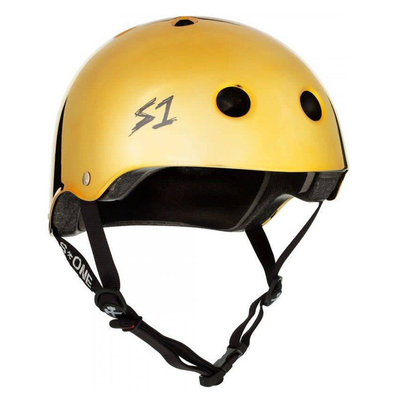 S-One Lifer V2 Gold Gloss Mirror Helmet(Shell)